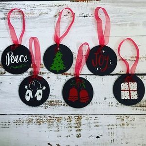 6 Handmade Chalk Ornaments